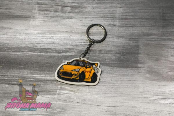 Брелок акриловый для ключей Toyota GT-86 (Желтый)
