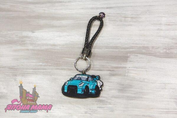 Брелок GT-R LB для ключей с кожаным плетеным ремешком