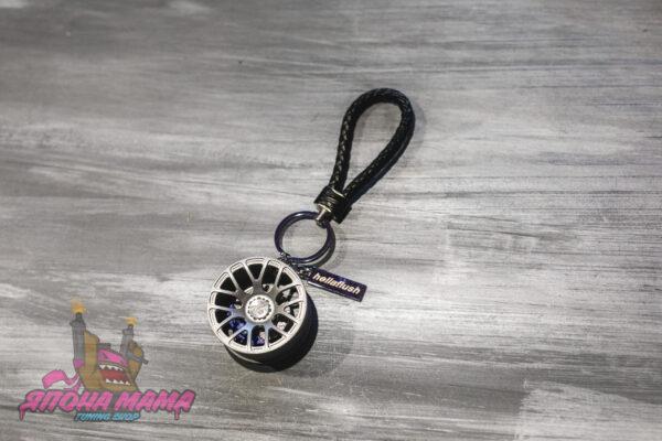 Брелок Stance для ключей с кожаным плетеным ремешком диск