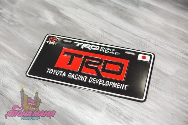 Декоративный номерной знак TRD
