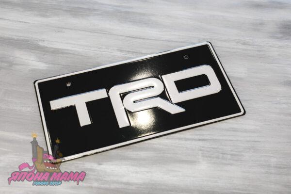 Декоративный номерной знак TRD белый