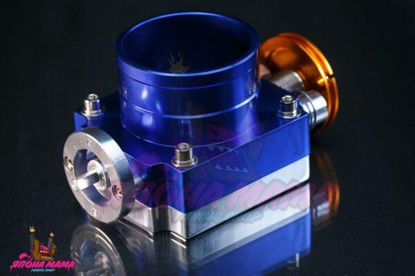 Дроссельная заслонка универсальная 80 mm. (синяя)