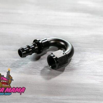 Фитинг AN10 180 градусов улучшенный под шланг 12 mm. (черный)