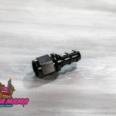 Фитинг AN6 прямой улучшенный под шланг 10 mm. (черный)