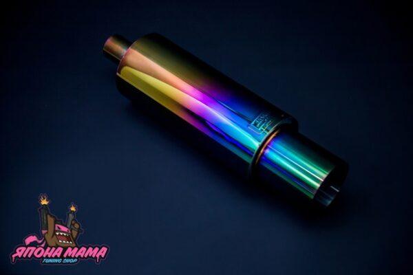 Глушитель HKS Hi-Power Neo Chrome тихий бас универсальный 51mm.(вход)