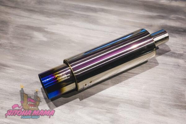 Глушитель HKS Hi-Power тихий бас 51mm.вход / 89mm.выход (универсальный)