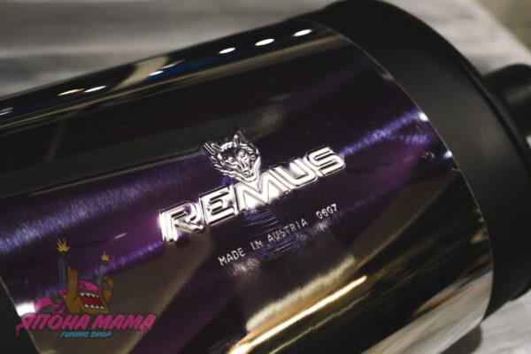 Глушитель REMUS made in Austria 0607 под 1 выход прямоугольный, универсальный 51mm.(вход) 590mm.(длина)