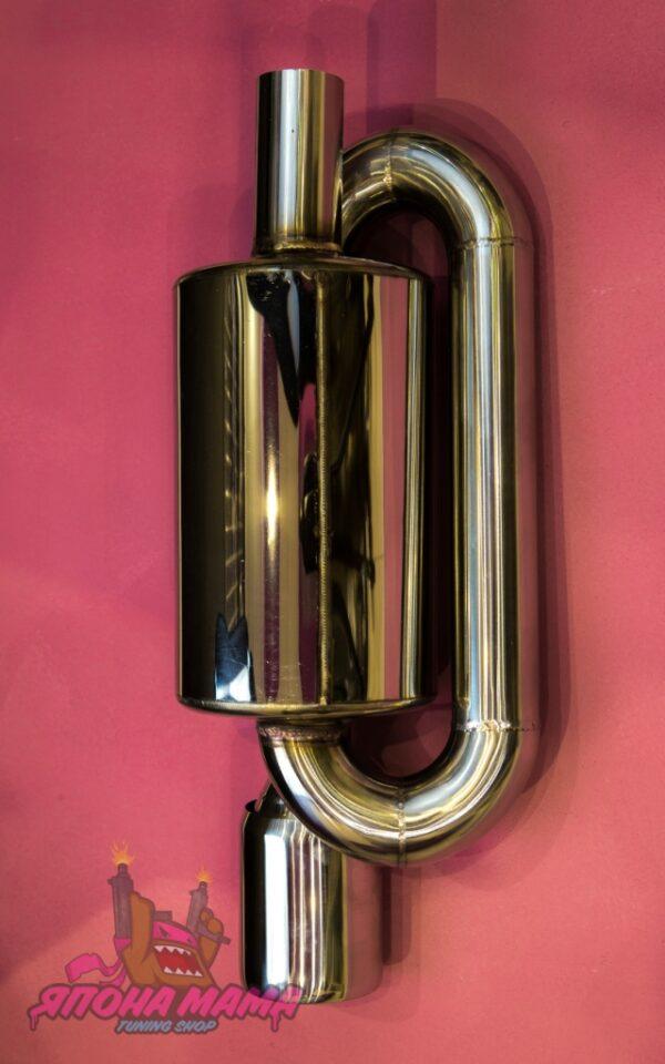 Глушитель Twin loop 51 mm. (приятный звук)