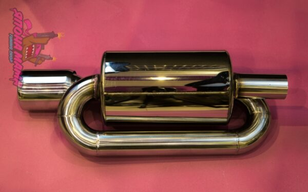Глушитель Twin loop 63 mm. (приятный звук)