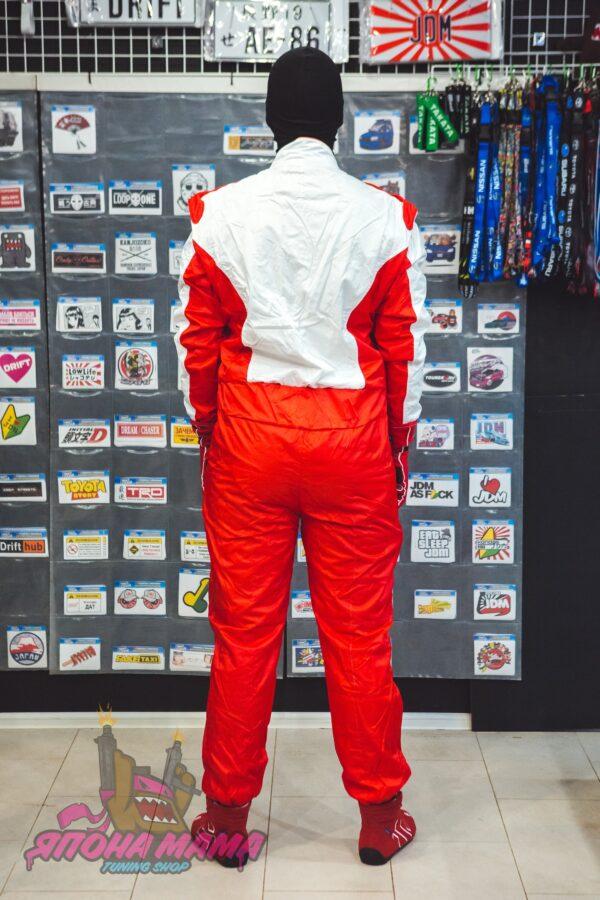 Комбинезон для автоспорта и картинга без FIA (красный)