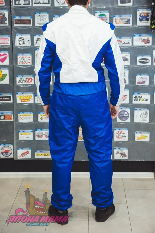 Комбинезон для автоспорта и картинга без FIA (синий)
