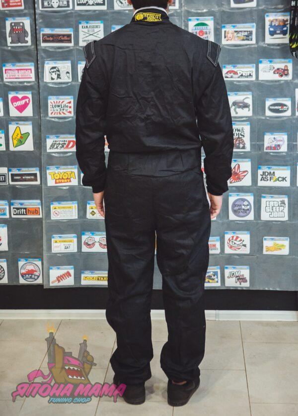 Комбинезон для автоспорта огнеупорный FIA 8856-2000 (черный)