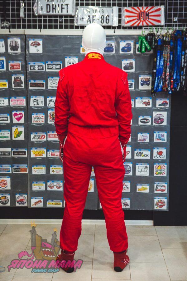 Комбинезон для автоспорта огнеупорный FIA 8856-2000 (красный)