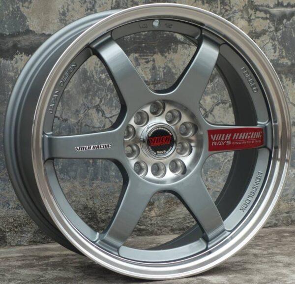 Комплект дисков Volk Racing TE37 R17 7.5j ET38 4x100 / 114.3 73.1 (серые)