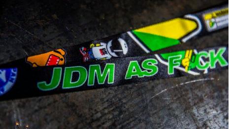 Лента JDM AS F*CK для ключей (бэйджкипер)