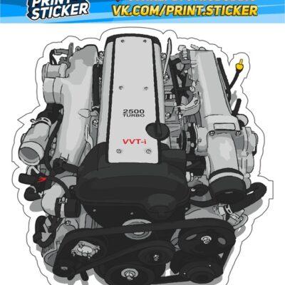 Наклейка 1JZ-GTE VVTI