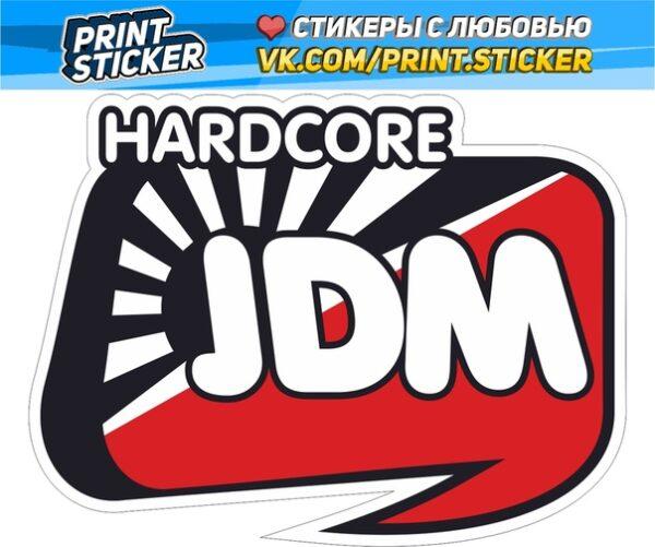 Наклейка Hardcore JDM