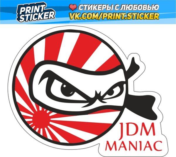Наклейка JDM Maniac