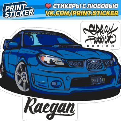 Наклейка Subaru Impreza Лиса