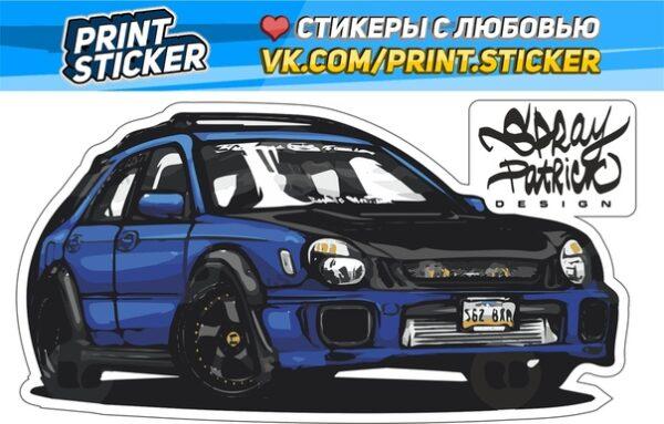 Наклейка Subaru Impreza Лупатая