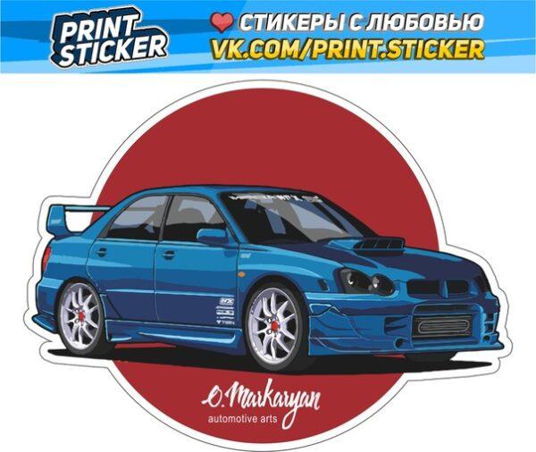 Наклейка Subaru Impreza STI