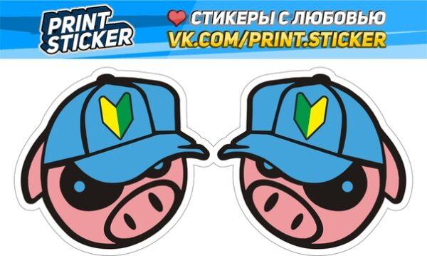 Наклейка Subaru PIG JDM
