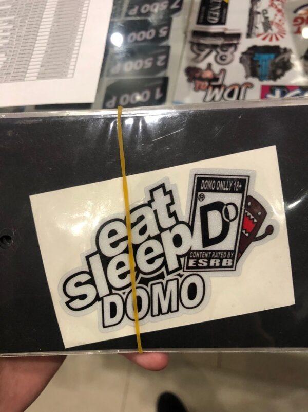 Наклейка светоотражающая EAT SLEEP DOMO