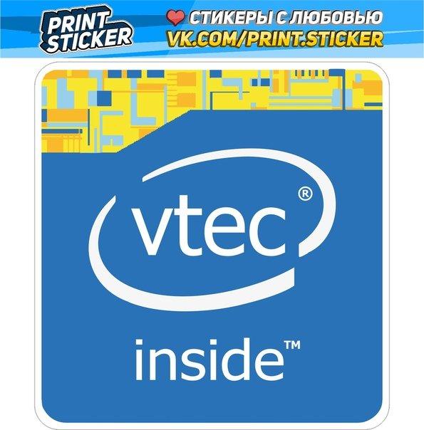 Наклейка Vtec Inside