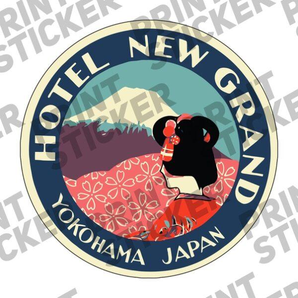 Наклейка YOKOHAMA JAPAN