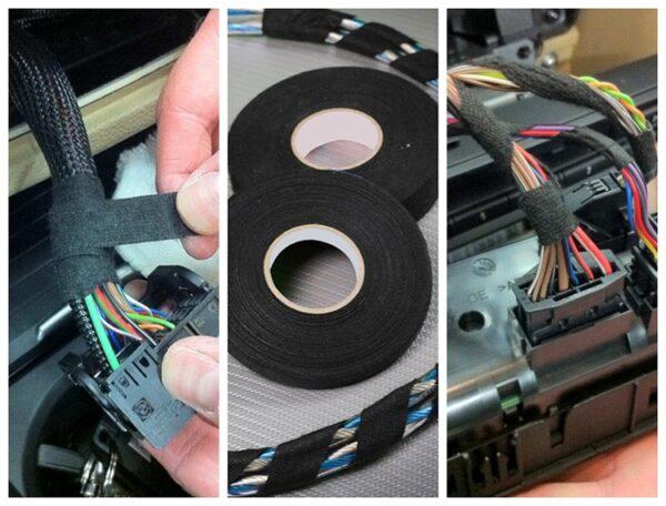 Оплетка для проводов самоклеющаяся 32 mm. * 15 m.