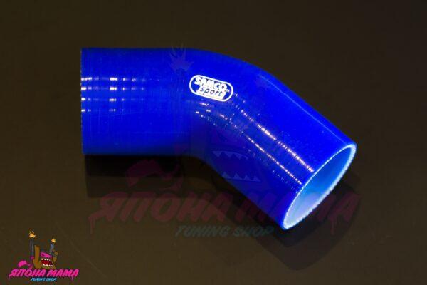 Патрубок силиконовый 83-102 mm. 45 градусов
