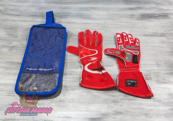 Перчатки для автоспорта FIA 8856-2000 (красные)