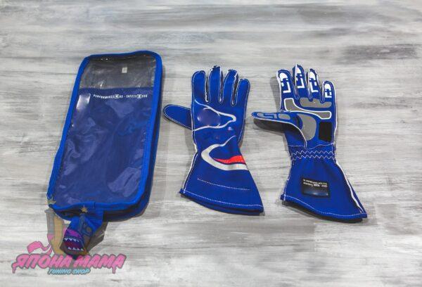 Перчатки для автоспорта FIA 8856-2000 (синие)