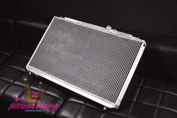 Радиатор охлаждения алюминиевый Toyota JZX 90-100 (50mm. / AT / 2 ряда / подходит на MT) (TX009)