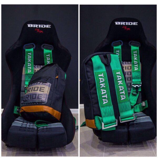 РЕПЛИКА рюкзак Bride Takata для JDM'щиков и Дрифтеров (Зеленый)