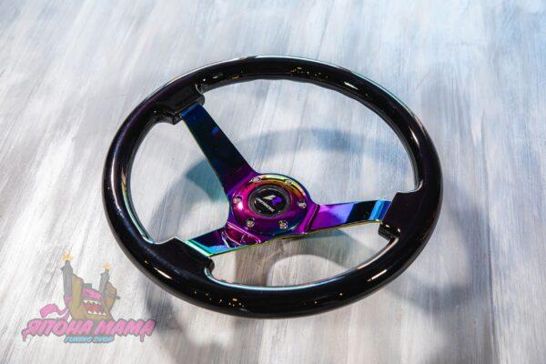 Руль оригинальный Lines Racing Exclusive черный с Neo Chrome спицами