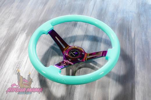 Руль оригинальный Lines Racing Exclusive мятный с Neo Chrome спицами