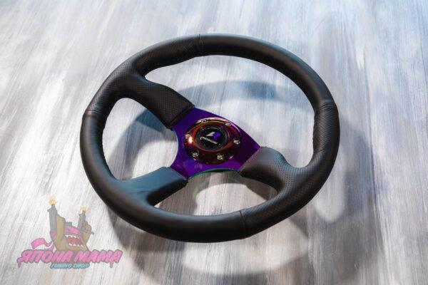 Руль оригинальный Lines Racing из перфорированной кожи с Neo Chrome спицами (минимальный вынос)