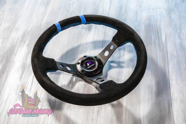 Руль оригинальный Lines Racing замшевый черный (вынос)