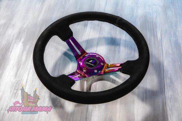 Руль оригинальный Lines Racing замшевый с Neo Chrome спицами