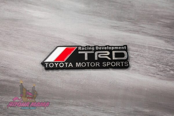 Шильдик TRD Toyota Racing Development (черный)