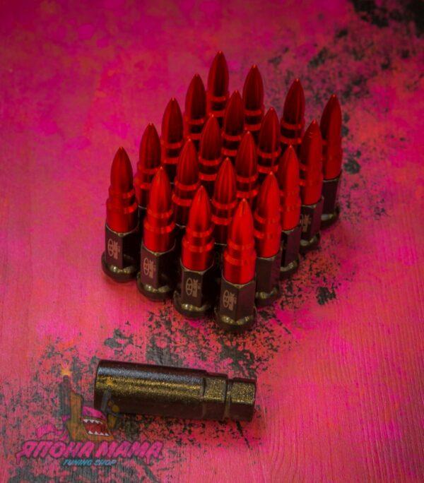 Спортивные колесные гайки Blox пули (красные)