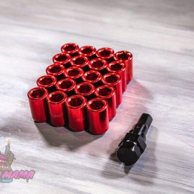 Спортивные колесные гайки Max Guard под внутренний шестигранник (красные)