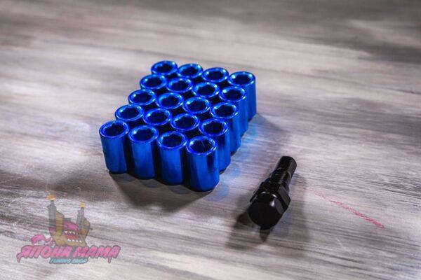 Спортивные колесные гайки Max Guard под внутренний шестигранник (синие)