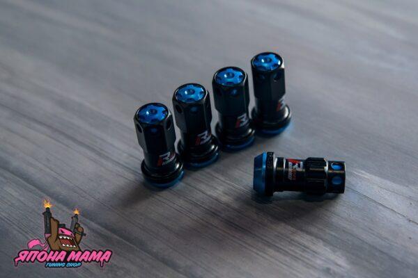 Спортивные колесные гайки-секретки Max Guard (синие)