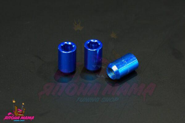 Спортивные колесные гайки Top Fit под внутренний шестигранник (синие)