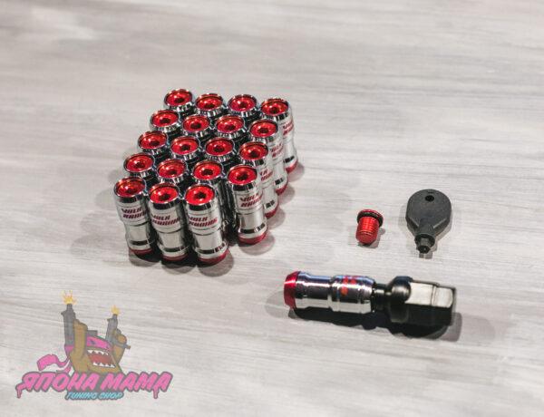 Спортивные колесные гайки Volk Racing (красные)
