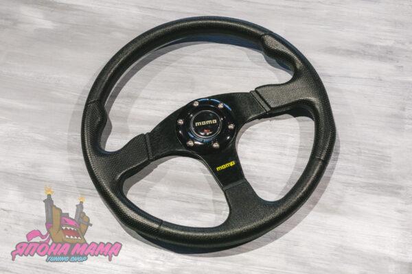 Спортивный руль momo без вылета (PVC материал)