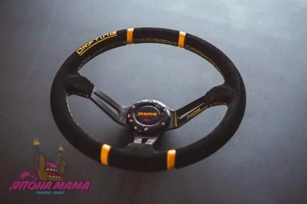 Спортивный руль momo Drifting (замша)