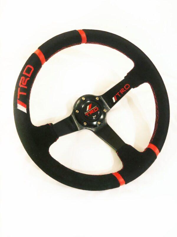Спортивный руль TRD замшевый с выносом